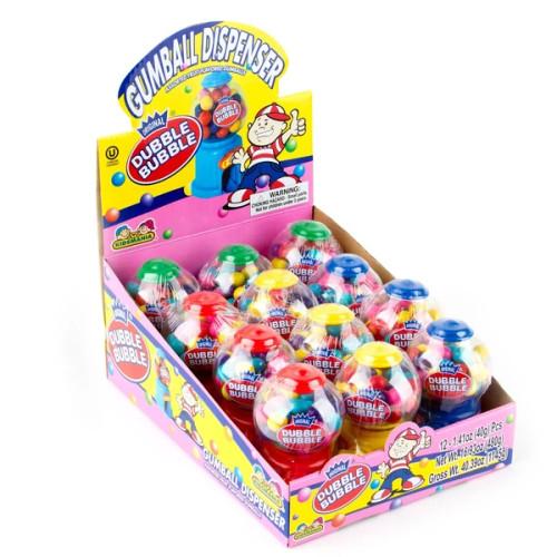 Dubble Bubble Gum Dispenser Miniature 1.4 Ounces 12 Count