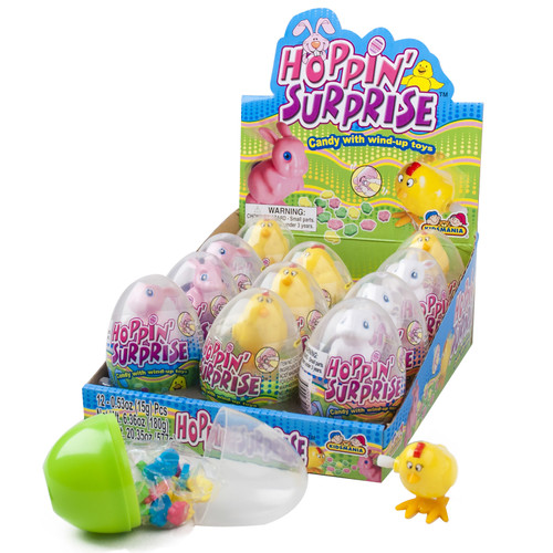 Hopping Surprise Egg With Candy 0.53 Ounces 12 Count