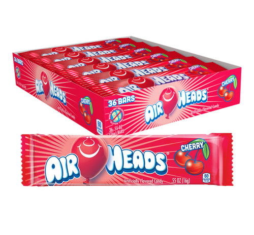 Airheads Cherry Singles 0.55 Ounce 36 Count