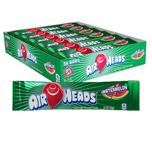 Airheads Watermelon Singles 0.55 Ounce 36 Count