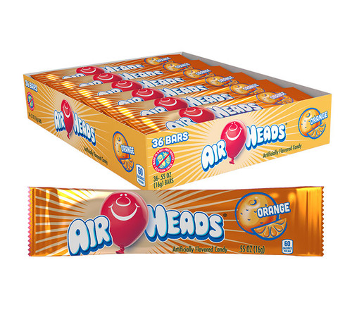 Airheads Orange Singles 0.55 Ounce 36 Count