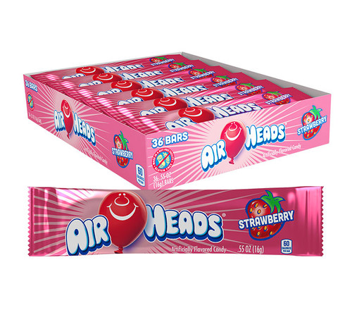 Airheads Strawberry Singles 0.55 Ounce 36 Count
