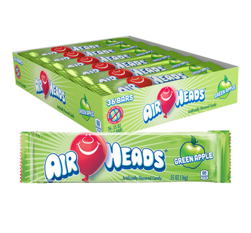 Airheads Green Apple Singles 0.55 Ounce 36 Count