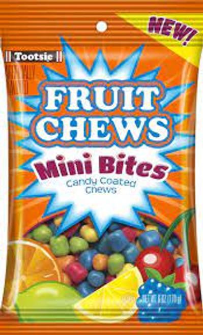 Tootsie Roll Fruit Chew Mini Bites 6 Ounce 12 Count