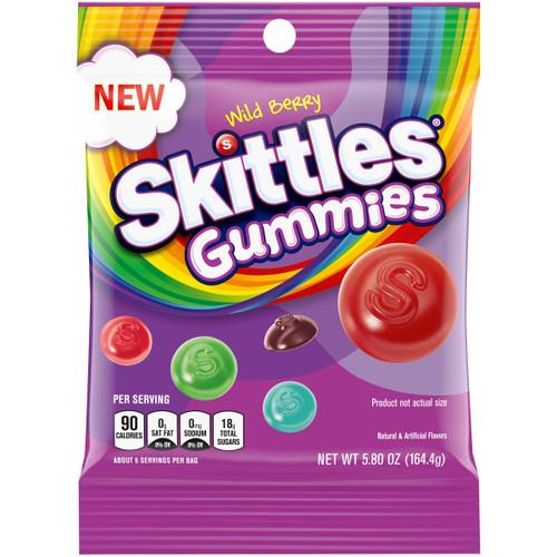 Skittles Gummies Wild Berry 5.8 Ounce 12 Count Peg Bag