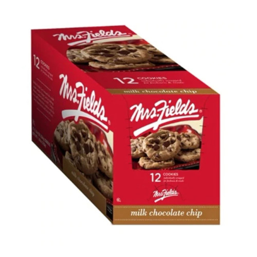 Cookies Mrs. Fields Milk Choco Chips 2.1 Ounce 12 Count