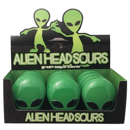 Alien Heads Sours Green Apple 1 Ounce 12 Count