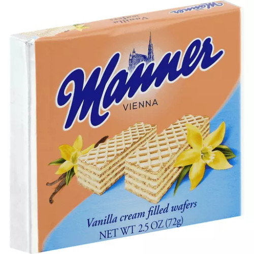 Manner Cream Filled Wafer Vanilla 2.65 ounce 12 count