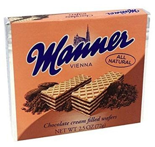 Manner Cream Filled Wafer Chocolate 2.65 ounce 12 count