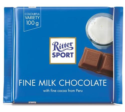 Ritter Sport Fine Milk 3.5 Ounce 12 Count