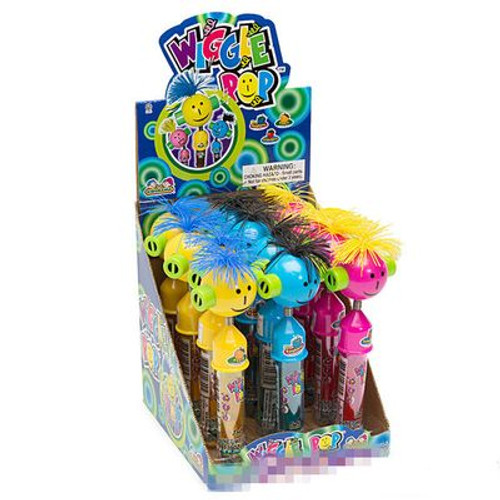 Wiggle Pop with Candy 0.39 Ounces 12 Count