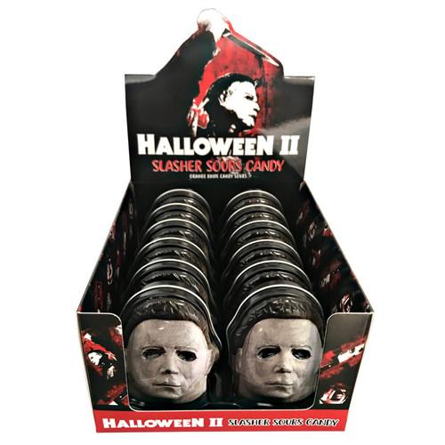 Halloween 2 Mask Tin Orange 1 Ounce 12 Count