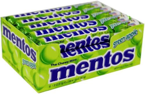 Mentos Rolls Green Apple 15 Count