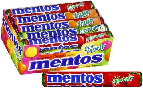 Mentos Rolls Mixed Fruit 15 Count