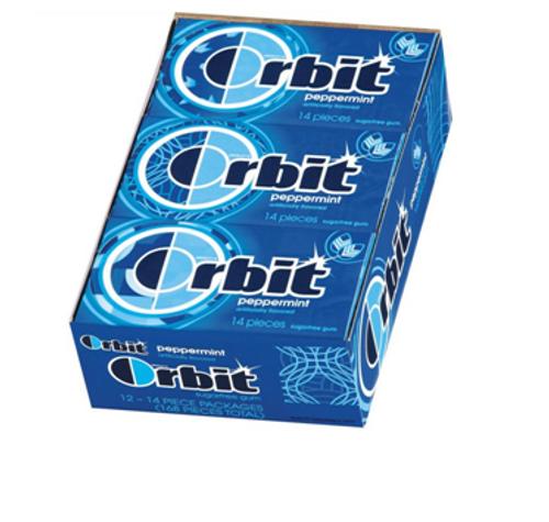 Orbit Peppermint 14 piece 12 Count