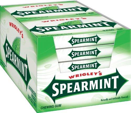 Wrigley Spearmint Plenty Pack 15 Piece 10 Count