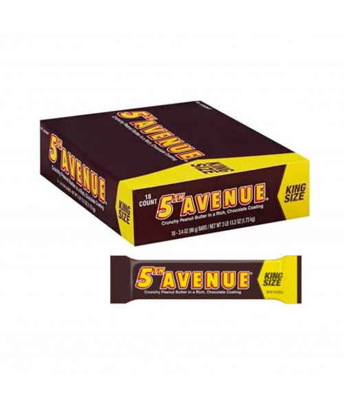 5th Avenue Candy Bar King Size 3.4 Ounce 18 Count