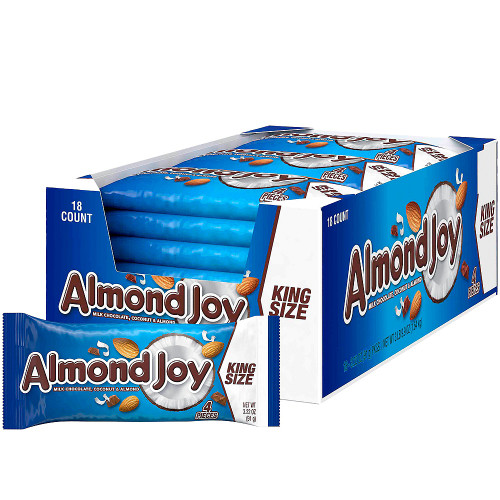 Almond Joy Candy Bar King Size 3.2 Ounce 18 Count