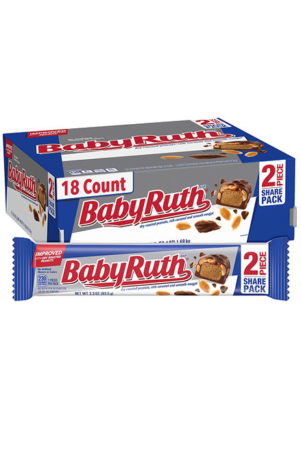 Baby Ruth Candy Bar King Size 3.7 Ounce 18 Count