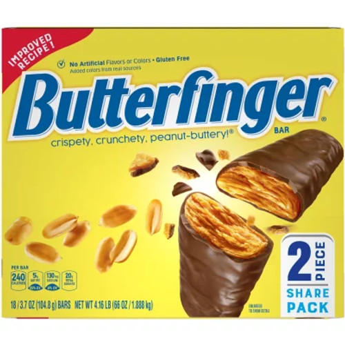 Butterfinger Candy Bar King Size 3.7 Ounce 18 Count