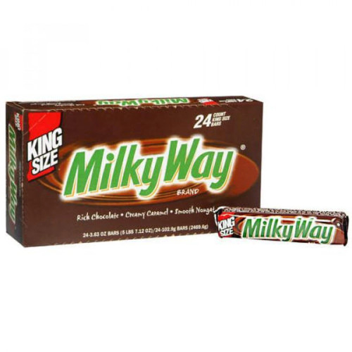 Milky Way Candy Bar King Size 3.63 Ounce 24 Count