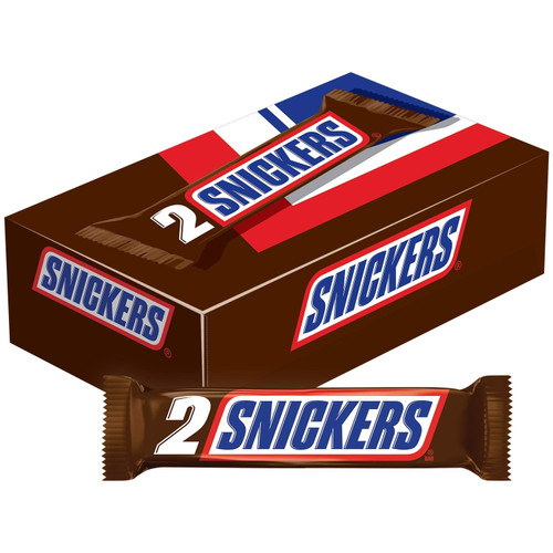 Snickers Candy Bar King Size 3.7 Ounce 24 Count