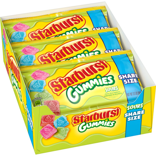 Starburst Gummies Sours King Size 3.5 Ounce 15 Count