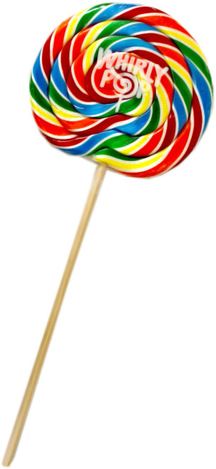 """Whirly Pops 5.25"""" Rainbow 6 Ounce 36 Count"""