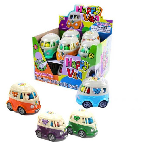 Happy Van Toy Car w/Candy 0.53 Ounces 12 Count