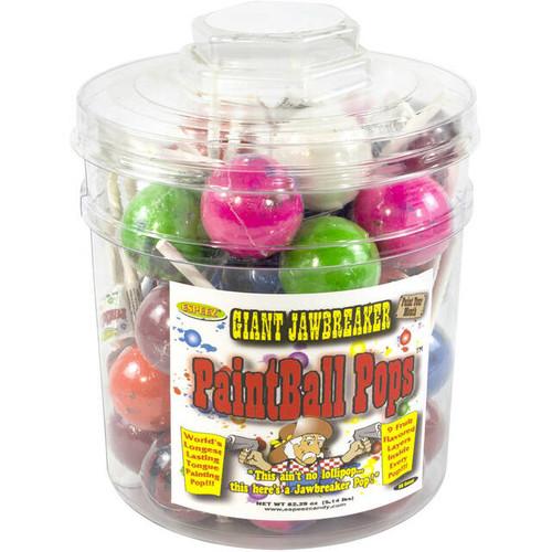 Paintball Jawbreaker Pop Jar 36 Count