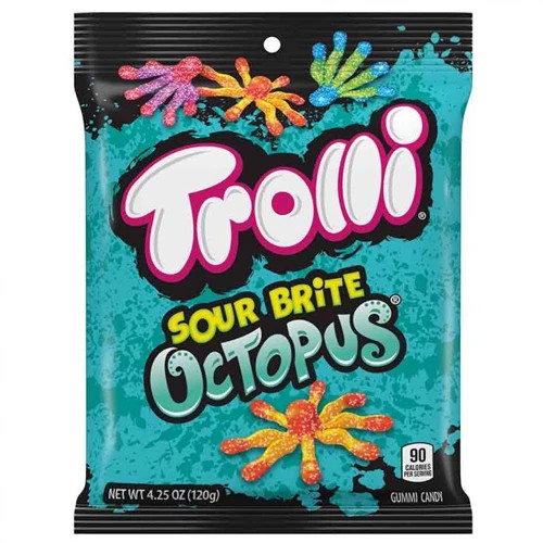 Bright Octopus 4.25 Ounce 12 Count Peg Bag