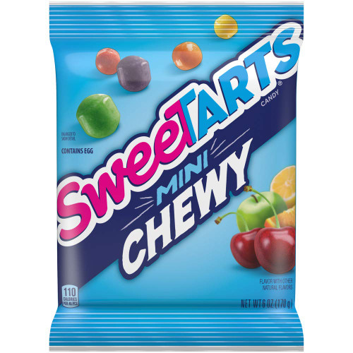 Chewy Sweetarts 6 Ounce 12 Count Peg Bag