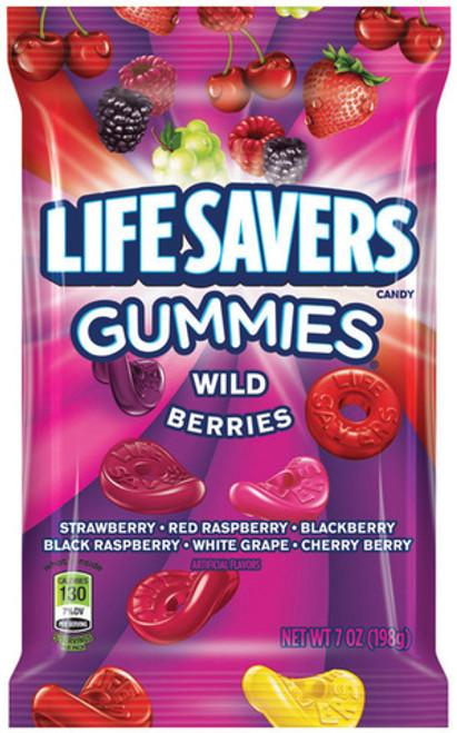 Life Savers Gummies Wild Berry 7 Ounce 12 Count Peg Bag