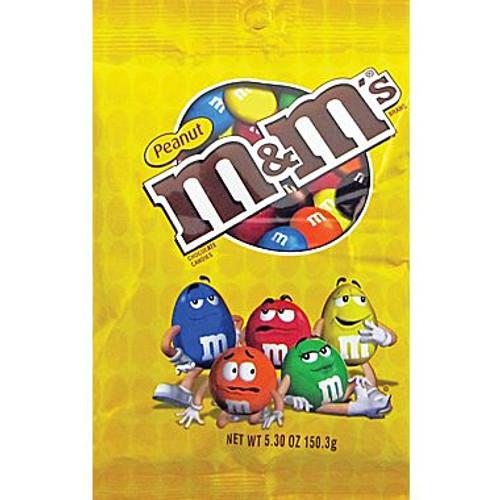 M&M Peanut 5.3 Ounce 12 Count Peg Bag
