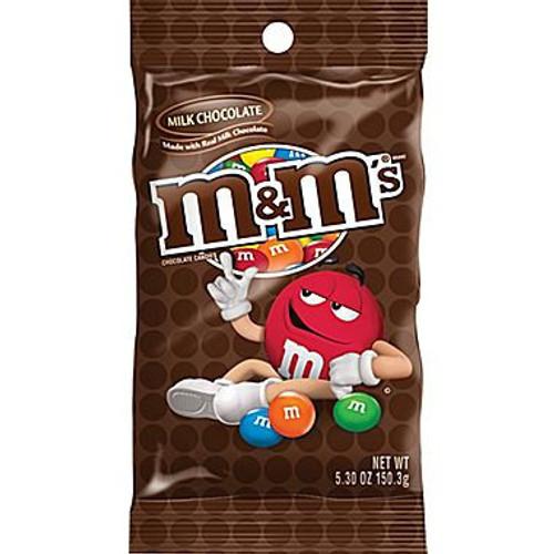 M&M Plain 5.3 Ounce 12 Count Peg Bag