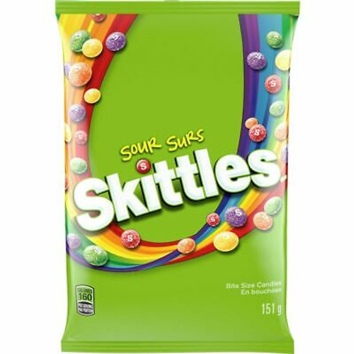 Skittles Sour 5.7 Ounce 12 Count Peg Bag