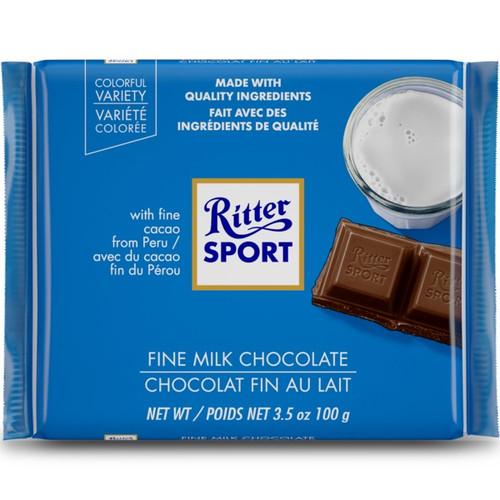 Ritter Sport Alpine Milk 3.5 Ounce 12 Count