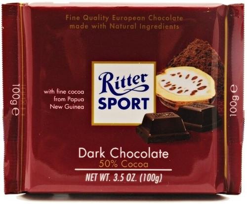 Ritter Sport Dark Choco 3.5 Ounce 12 Count