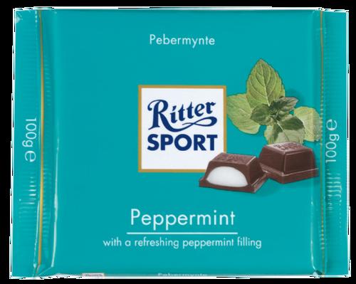 Ritter Sport Dark w/Peppermint 3.5 Ounce 12 Count