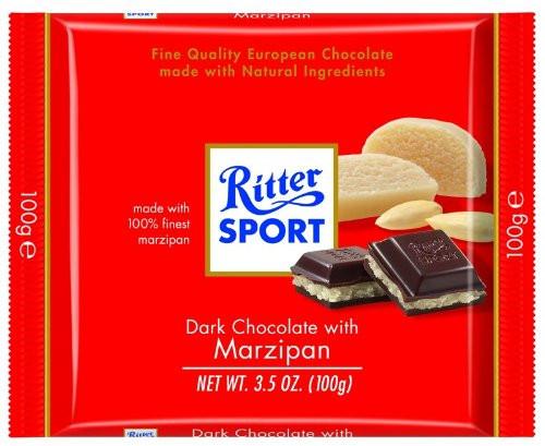 Ritter Sport Dark w/Marzipan 3.5 Ounce 12 Count