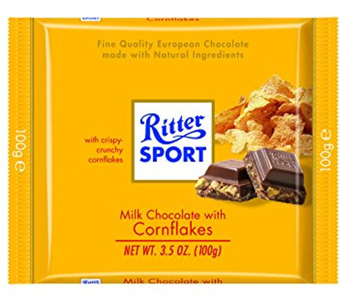 Ritter Sport Milk w/Corn Flakes 3.5 Ounce 10 Count
