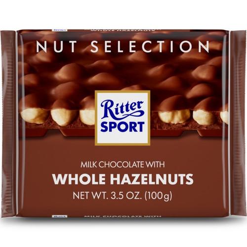 Ritter Sport Milk w/Whole Hazelnuts 3.5 Ounce 10 Count