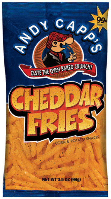 Andy Capp's Cheddar Fries 3 Ounce 12 Count