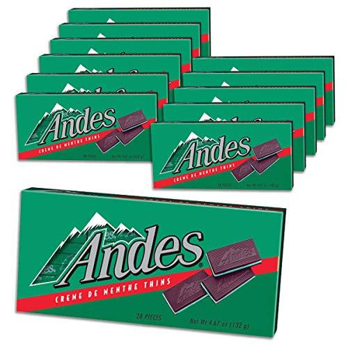 Andes Mint Creme De Menthe 4.67 Ounce 12 Count Theatre Box