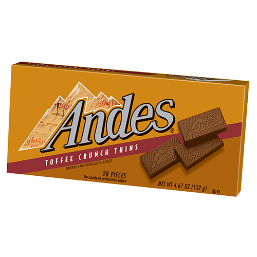 Andes Mint Toffee Crunch 4.67 Ounce 12 Count Theatre Box