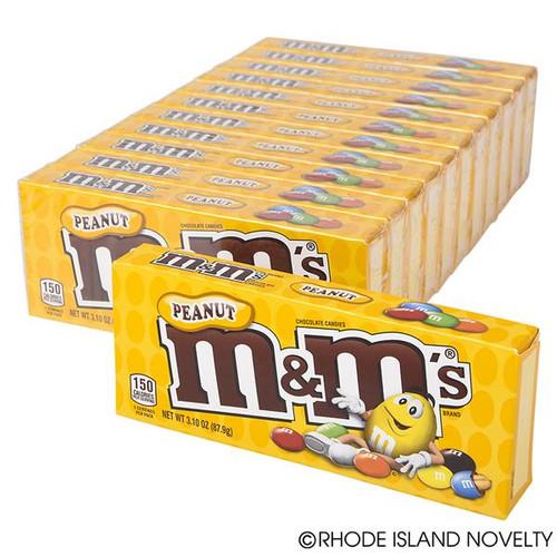 M&M Peanut 3.1 Ounce 12 Count Theatre Box