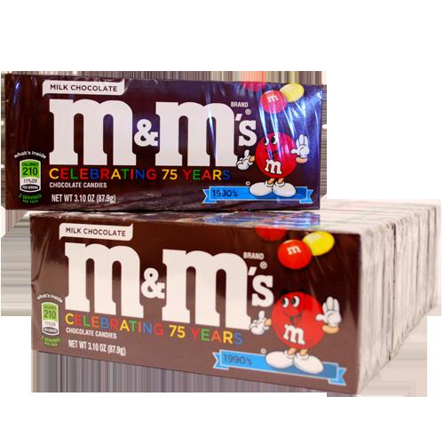 M&M Plain 3.1 Ounce 12 Count Theatre Box