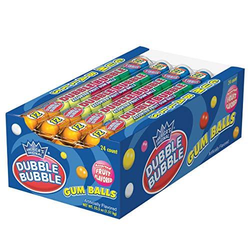 Dubble Bubble Gumballs 12 Piece Tube 24 Count