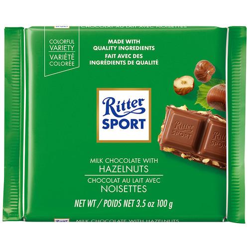 Ritter Sport Milk Chopped Hazelnuts 3.5oz 12ct