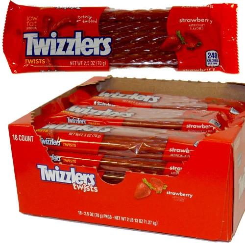 CG Twizzlers Strawberry 2.5oz 18ct